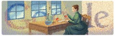 Marie Curie Google Doodle IDBOOX