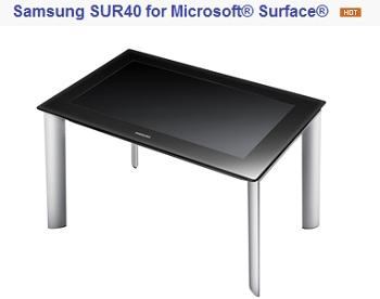 Table tactile Samsung SUR40 IDBOOX