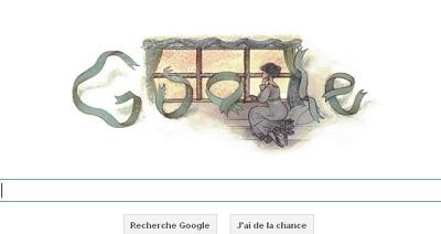 Doodle Google  Flaubert IDBOOX