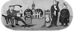 Charles Addams Doodle Google IDBOOX