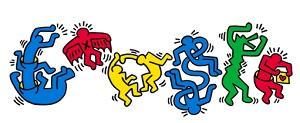 Keith Haring Google Doodle IDBOOX