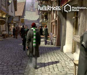 pottermore at playstation home. Black Bedroom Furniture Sets. Home Design Ideas