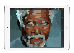 Morgan Freeman iPad Art Kyle Lambert IDBOOX
