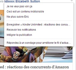 Fonction Save Facebook 2 IDBOOX