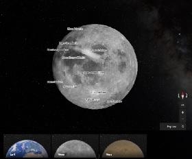 Voir lune et mars Google maps IDBOOX