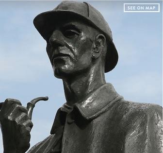 Sherlock Holmes talking Statues