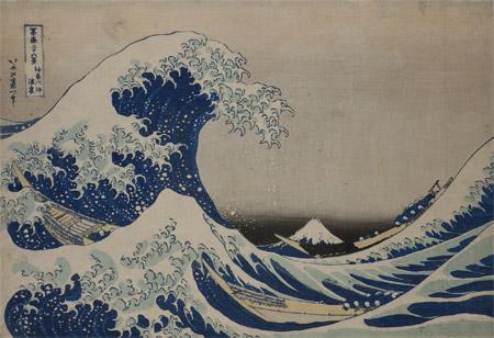 Expo-Hokusai-Grand-Palais-Dans-le-creux-d'une-vague-au-large-de-Kanagawa