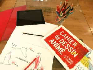 cahier de dessin anime crowdfunding appli IDBOOX