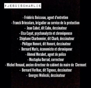 CharlieHebdo victimes