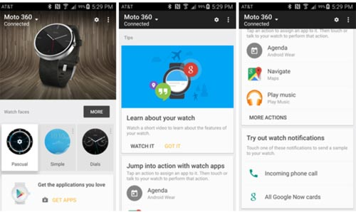 Android Wear mise a jour appli