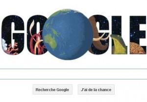 Journee de la terre doodle Google quiz