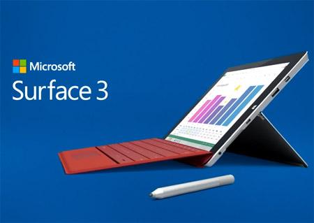 Microsoft Surface 3 sous Windows 8