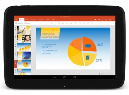 Microsoft place applis sur tablettes Android