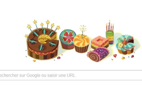 Google doodle anniversaire