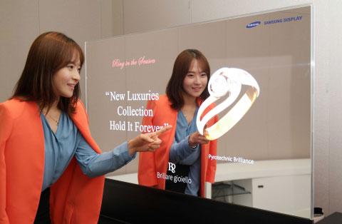 Samsung écran OLED miroir