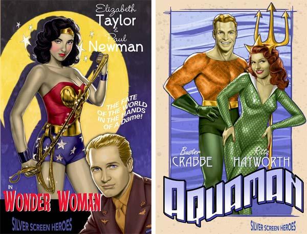 Comics super-héros acteurs années 60