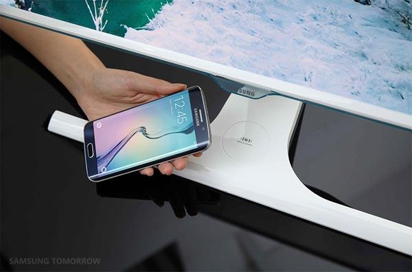 Samsung écran recharge sans fil smartphone
