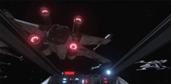 Star Wars sur casque Oculus Rift
