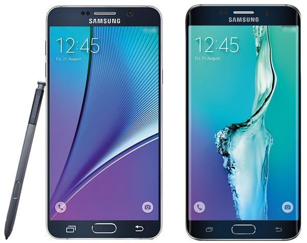 Samsung Galaxy Note 7 pas d'écran plat