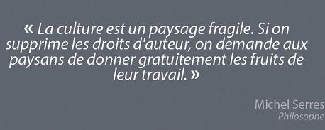 Michel Serres droit d auteur