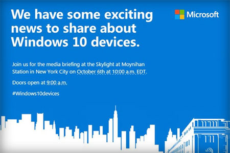 Microsoft Surface Pro 4 le 6 octobre
