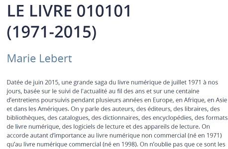 histoire du livre numerique