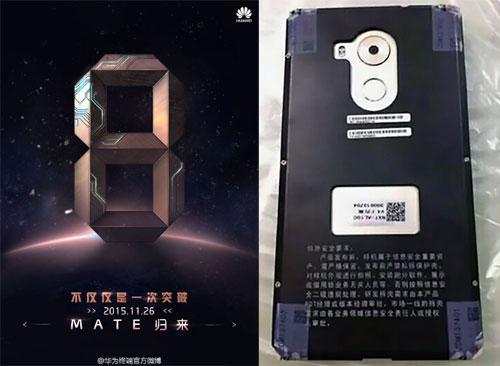 Huawei Mate 8 pour le 26 novembre
