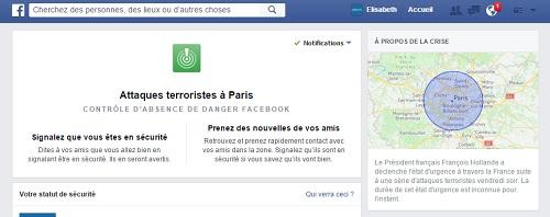 terrorisme Paris Facebook