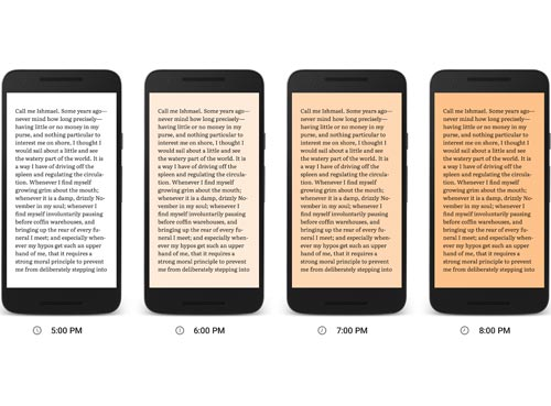 Google Play Books lecture nuit