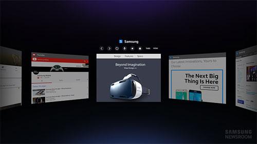 Samsung Gear VR navigateur internet