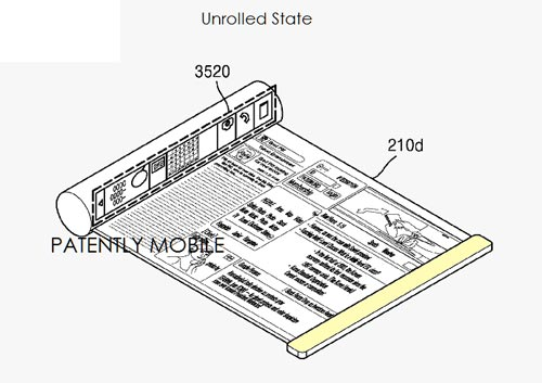 Samsung brevet smartphone pliable flexible déroulable