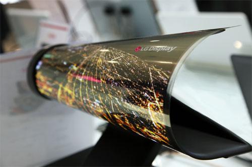 LG écran OLED flexible pliable 2017