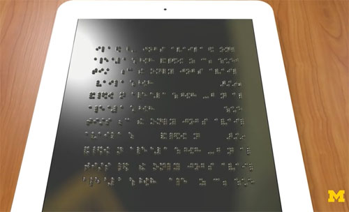 Tablette en braille