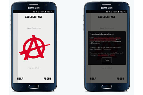 Google Adblock Fast Samsung