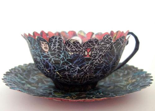 Livre oeuvre d'art tasse à thé