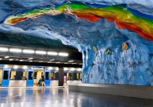 Métro de Stockholm galerie oeuvres d'art