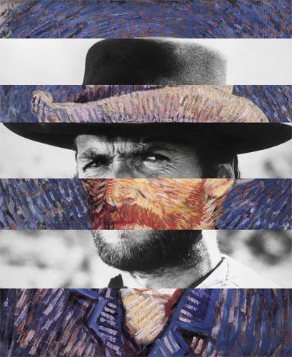 Mashup popculture cinéma tableau Clint Eastwood