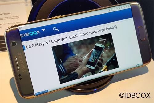 Samsung un galaxy S8 avec un écran plus grand