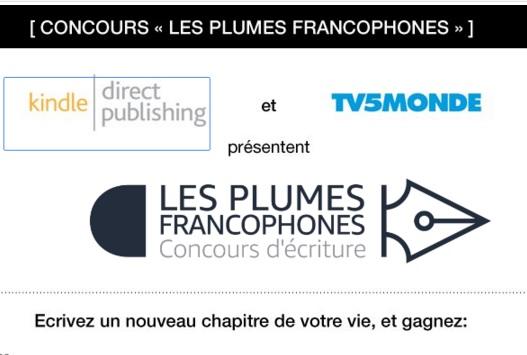 concours plumes franophones amazon tv5monde ebook