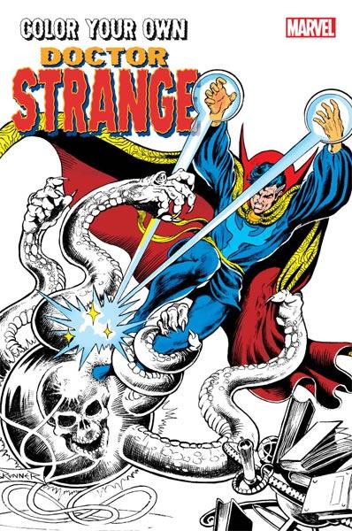Marvel livres coloriages adultes Docteur Srtange