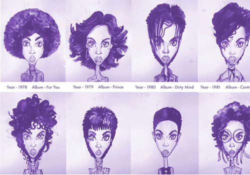 Prince RIP 36 looks différents