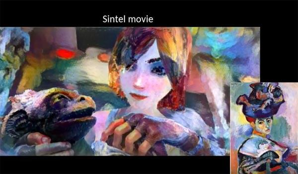 Vidéo transformée avec style tableau