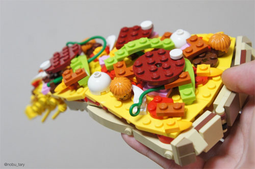 LEGO constructions Food Art
