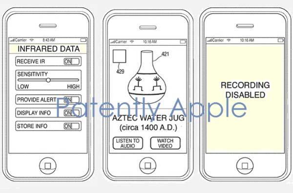 Apple brevet pour bloquer photos en concert