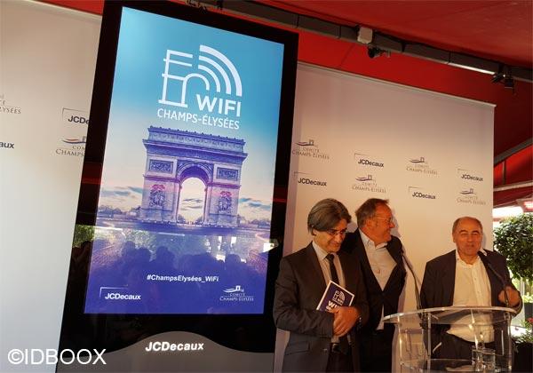 Lancement WiFi gratuit Champs Elysées