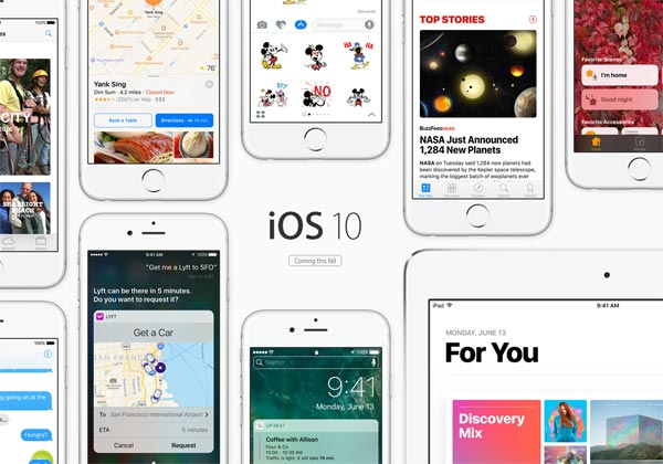 iOS 10 supprimer applis natives