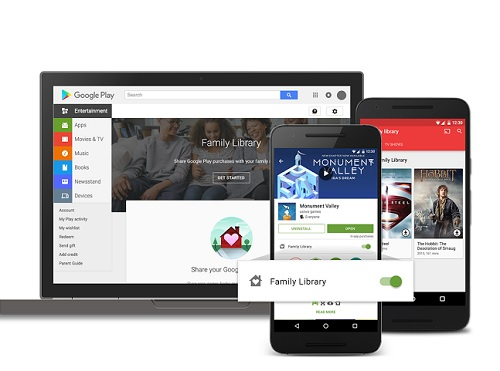 google play family library