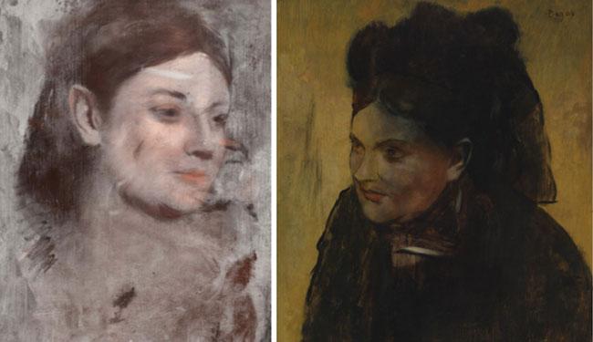 Degas un deuxième tableau caché sous la toile