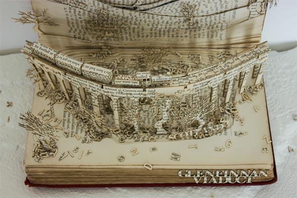 Livre sculpté Harry Potter et Pont Pouldard Express