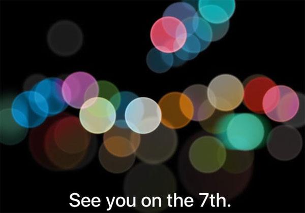 iPhone 7 invitation 7 septembre et caractéristiques